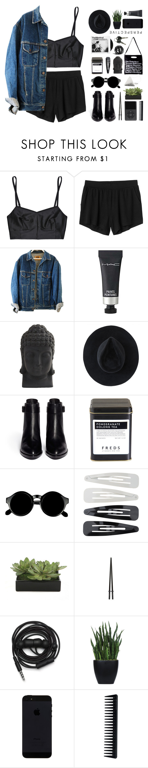 """""""how to get away with murder"""" by modernyouth ❤ liked on Polyvore featuring Jean Yu, Monki, MAC Cosmetics, Nearly Natural, Ryan Roche, Alexander Wang, FREDS at Barneys New York, American Apparel, Retrò and Forever 21"""