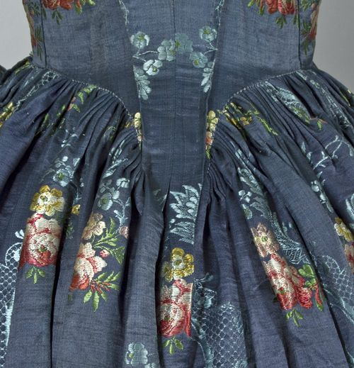 back detail of a Satin brocade open robe and underskirt. 47ea22266