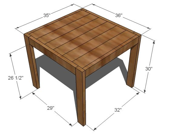 How to make your own end table cute cheap ana white for Make your own end table