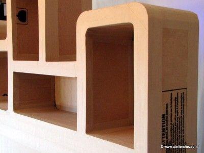 Nouveau Patron De Meuble En Carton En Preparation Meuble En Carton Mobilier En Carton Rangement Carton