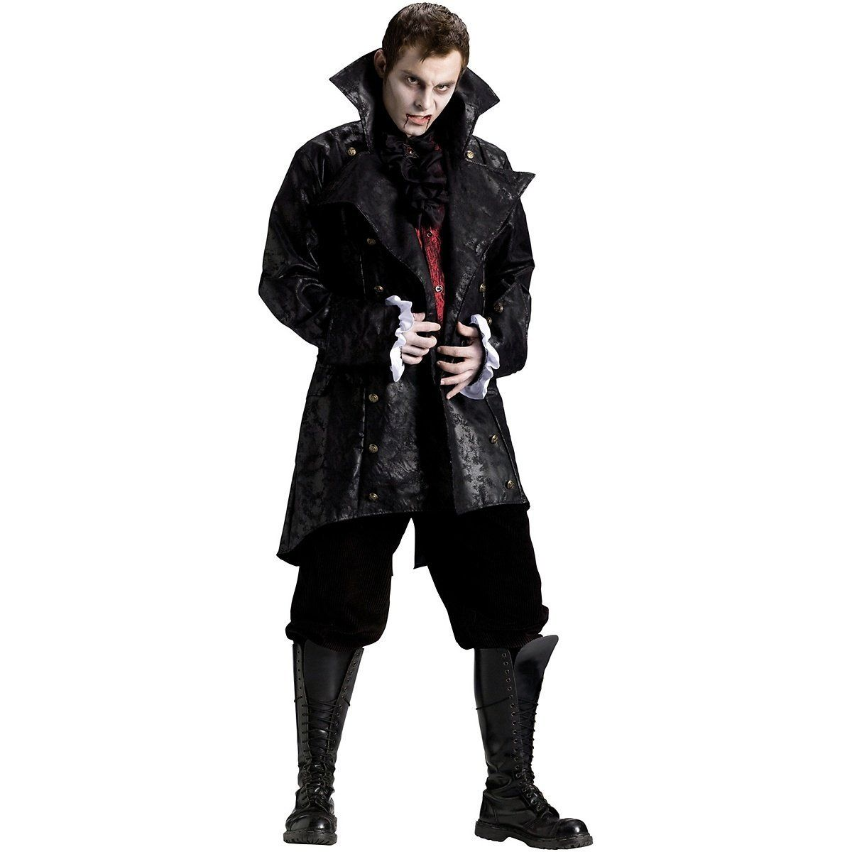 FunWorld 199319 V&ire Jacket Adult Costume - Black - One-Size - Standard Amazon  sc 1 st  Pinterest : vampire costume amazon  - Germanpascual.Com