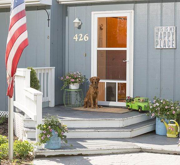 Built For Man S Best Friend The Petview Storm Door Add Curb Appeal And Function To Any Entry Storm Door Dog Door Larson Storm Doors