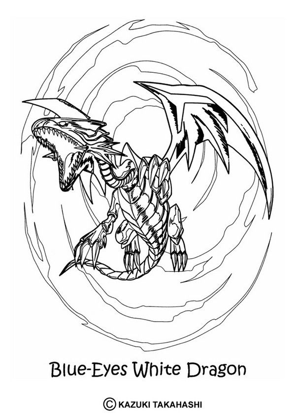Here A Yu Gi Oh Coloring Page With This White Dragon Coloring Sheet More Content On Hellokids Com Nerd Tattoo Coloring Pages Yugioh