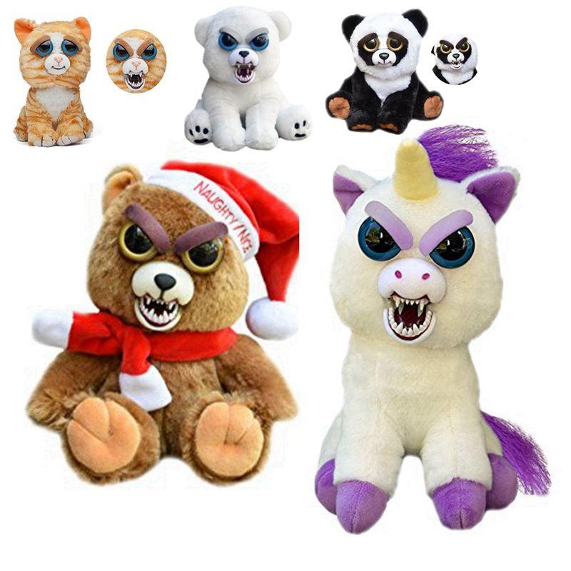 Feisty Pets Panda Change Face Bear Dog Cat Fox Dragon Stuffed Animals Lps Plush Doll Toy For B Monkey Stuffed Animal Sloth Stuffed Animal Plush Stuffed Animals