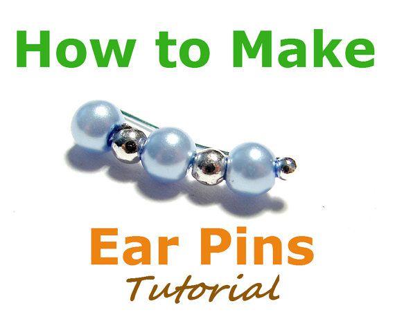 How to Make Ear Pins, Jewelry Tutorial, Earring Pins, Bobby Pin Earrings, Ear Sweeps, Ear Vines TUTORIAL -  pdf File via Etsy