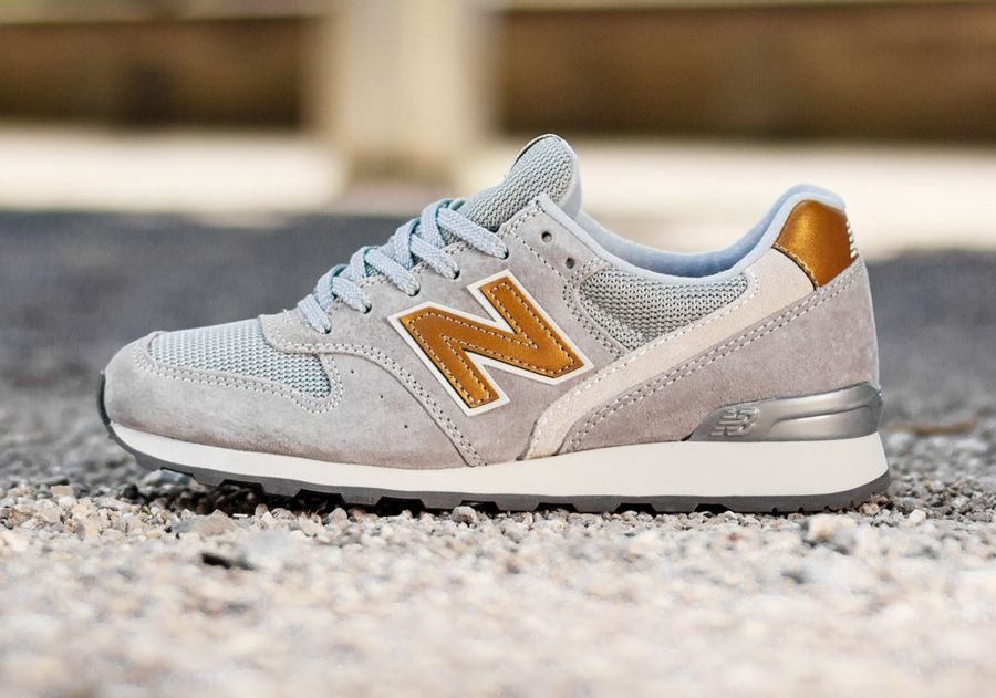 new balance gris et gold