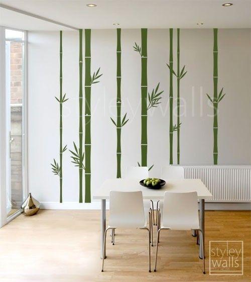 Vinyl Wall Art Decal Sticker Large Bamboo Tree 101