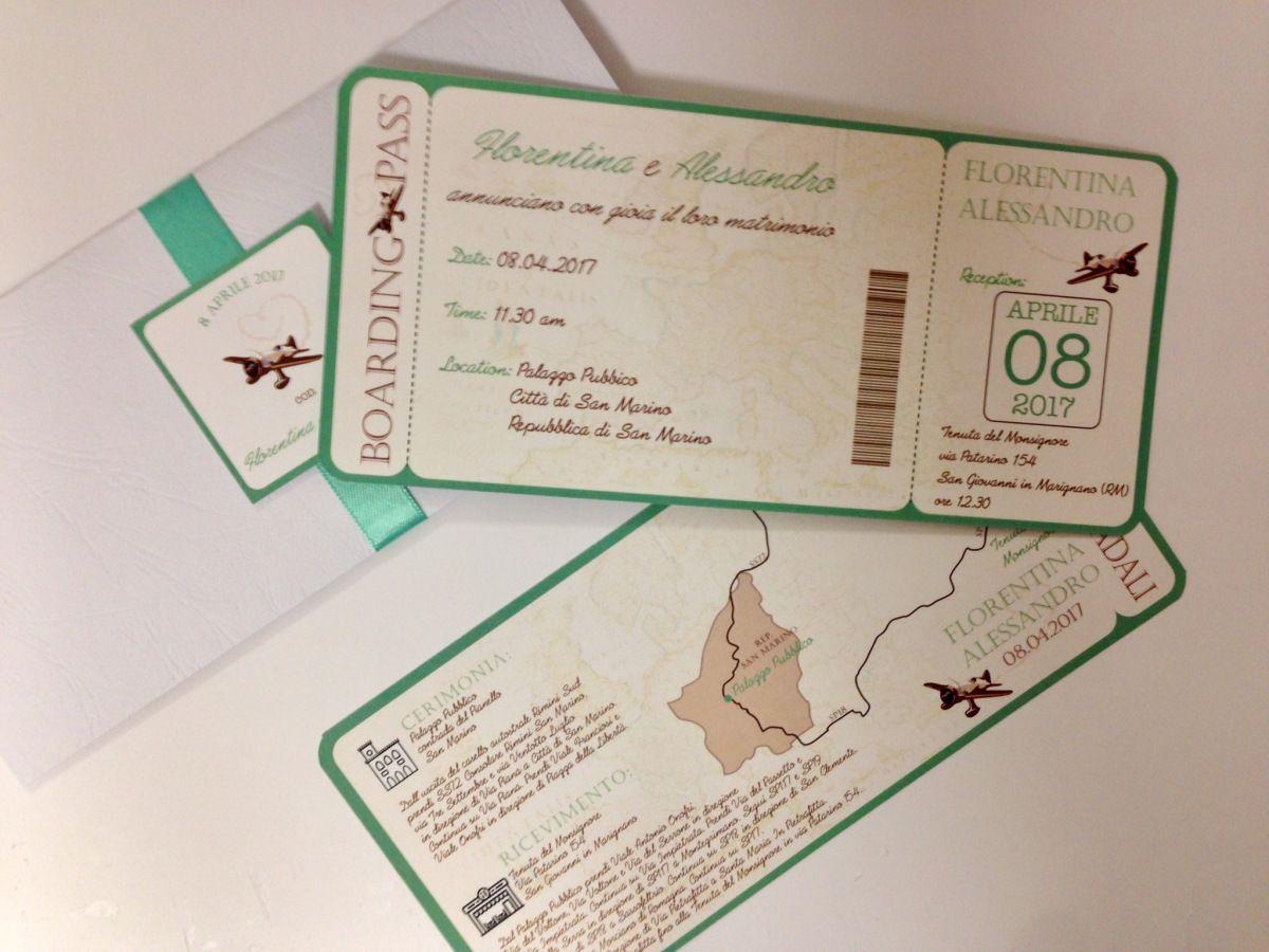 Boarding Pass Verde Smeraldo Festa A Tema Viaggio Matrimoni A Tema Viaggio Partecipazioni Matrimonio Fai Da Te