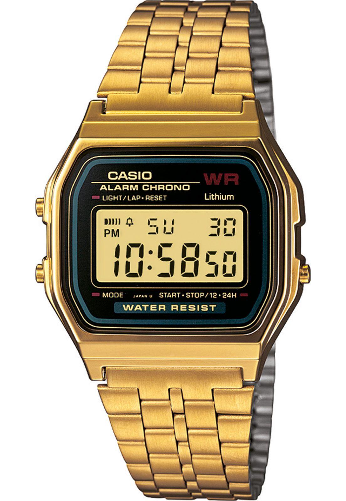 Relógio Casio A159wgea 1df Dourado Digitaal Horloge Vintage Horloges Horloges