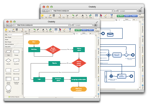 Diagram software to draw flowcharts uml more online creately diagram maker online diagram software ccuart Images