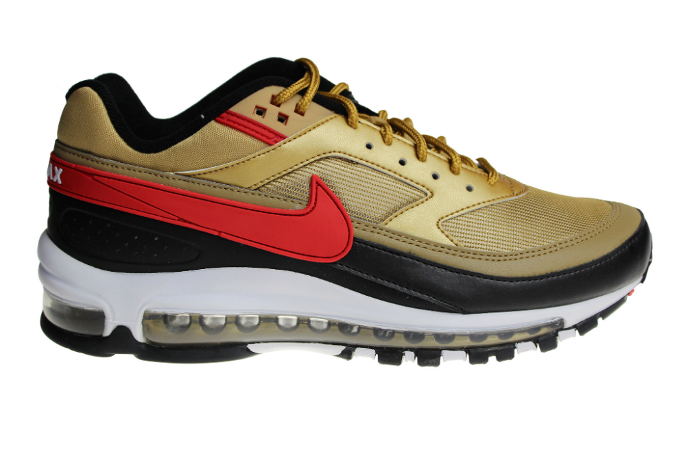 Nike Air Max Classic 97BW (ZwartGoudRoodWit) AO2406 700