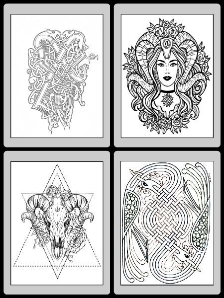 Wiccan Coloring Pages : wiccan, coloring, pages, Shadows, Coloring, Printable, Pages, Witch, Pages,, Books,