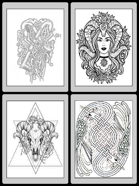 pagan coloring pages printable pdf design patterns