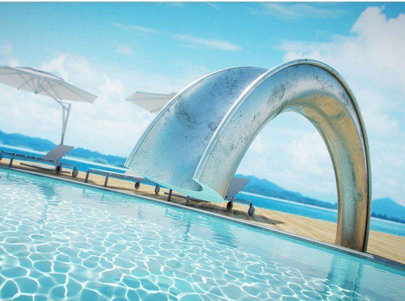 piscine ext rieure de luxe designs tendance 2015 en photos piscine pinterest toboggan. Black Bedroom Furniture Sets. Home Design Ideas