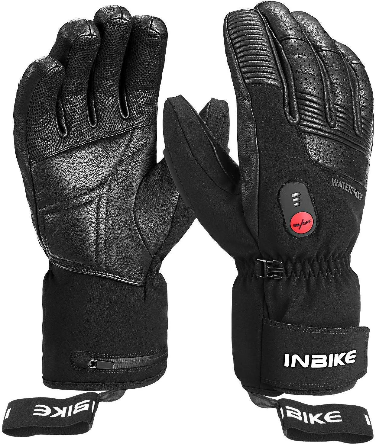 Amazon Com Inbike Heated Gloves Winter Motorcycle Gloves 7 4v 2200 Mah Electric Rechargable Battery 3 Level Warm Gloves Heated Gloves Winter Motorcycle Gloves