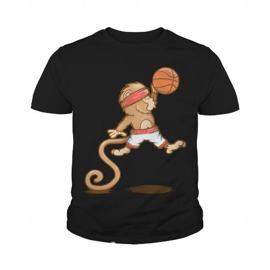 Cool Monkey Baller Basketball Grandpa Grandma Dad Mom Girl Boy Guy Lady Men Women Man Woman Coach Player Sport Shirts & Tees