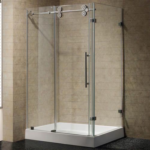 Vigo 36 X 48 Clear Stainless Frameless Steel Shower Enclosure W