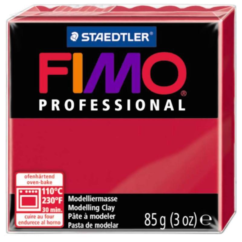 Fimo Professional ROUGE CARMIN N°29 - 85g - Place des loisirs