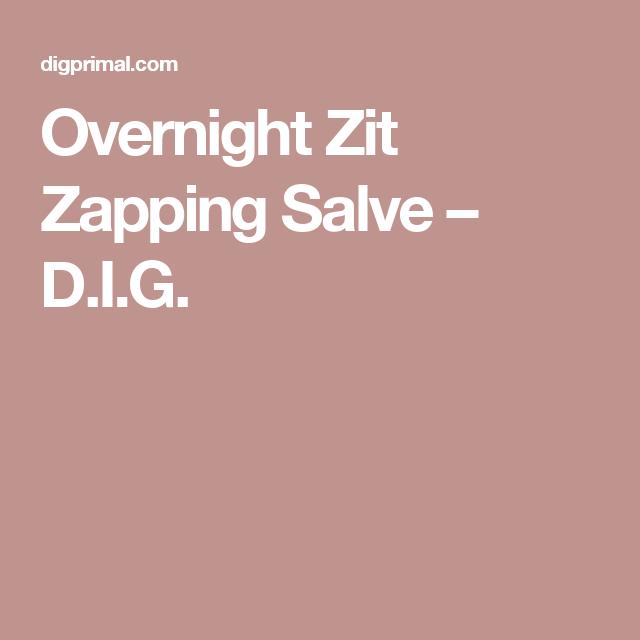 Overnight Zit Zapping Salve – D.I.G.