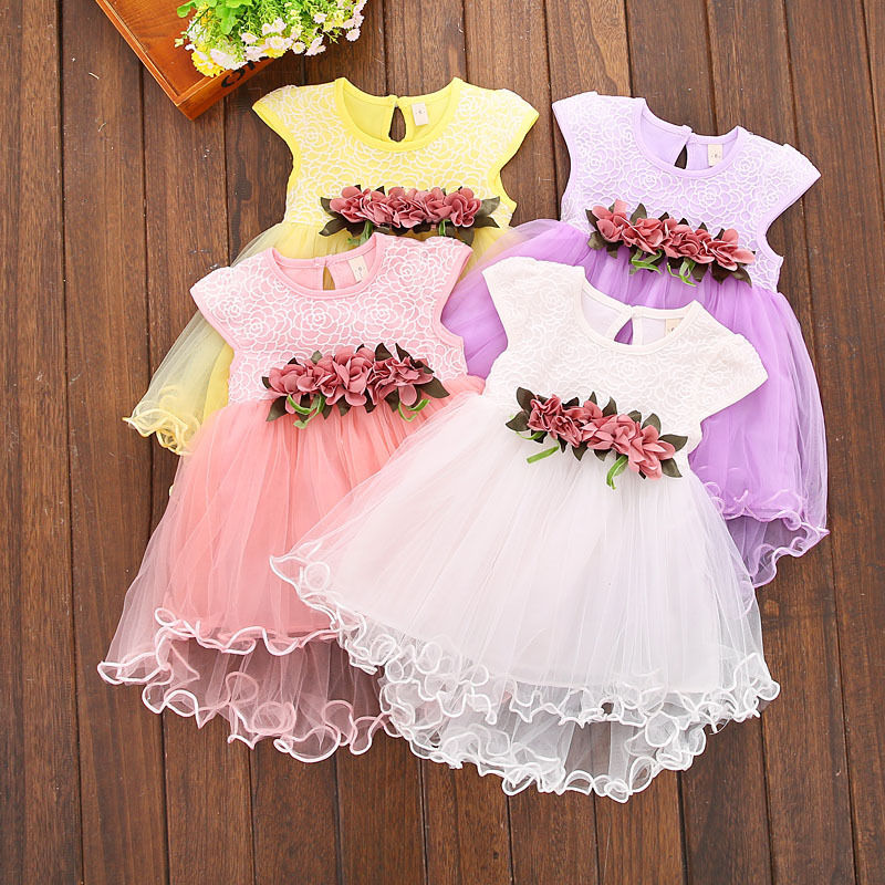 Toddler Baby Kids Girls Summer Cute Dresses Princess Party Floral Dress Clothes