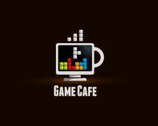 Game Cafe Logo Design For Game Developers Coffee Houses Gamers