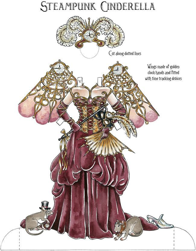 Steampunk Paper Dolls  Steampunk Paper Dolls Free Printable