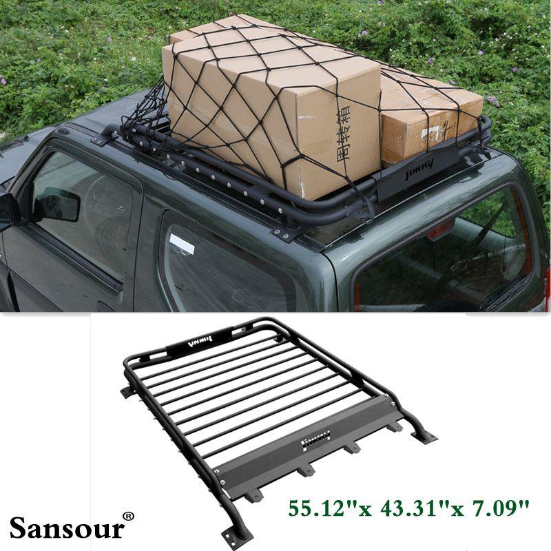 Newest Basic Car Roof Tray Platform Rack Carry Box Luggage Carrier Basket For Suzuki Jimny Luggage Carrier Outdoor Ottoman Suzuki Jimny