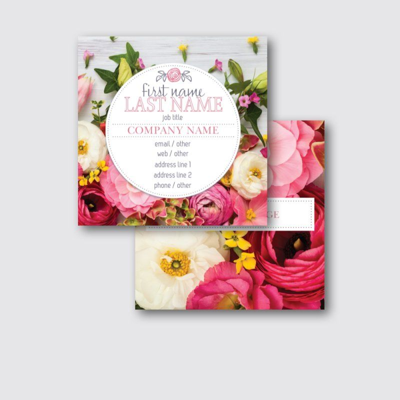 Square Business Cards Vistaprint Image collections - Card Design And ...