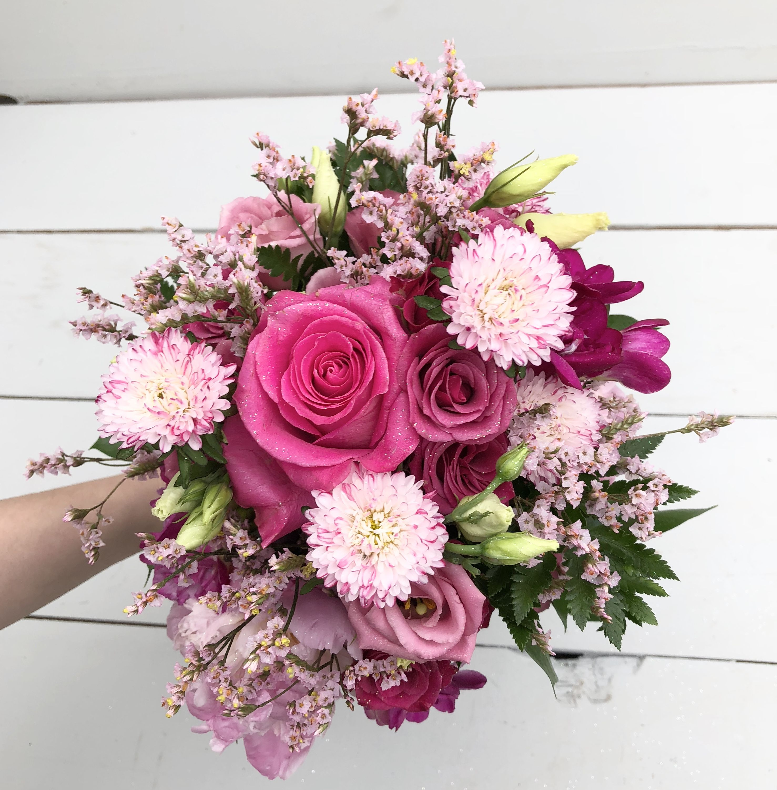 Hot Pink Prom Bouquet in 2020 Hot pink wedding flowers