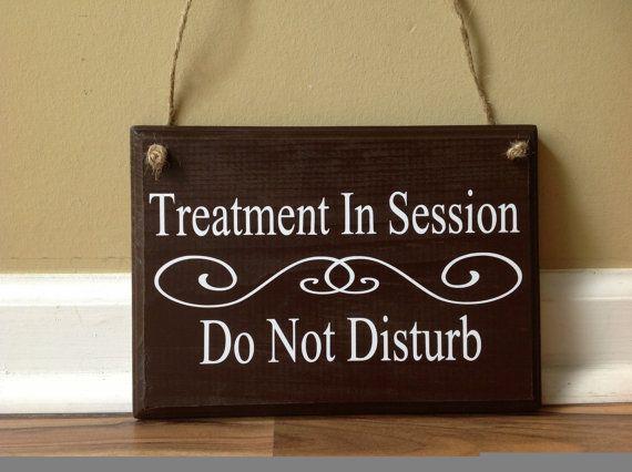 Treatment In Session Do Not Disturb Door Hanger by GAGirlDesigns - retail and consumer door hanger template