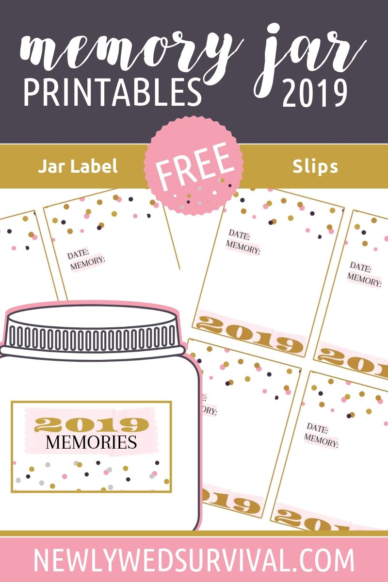 2019 Memory Jar Printables For Your New Year S Eve Date Night In