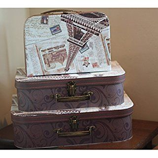 Extra Large Set of 3 Vintage Box Shabby Chic Storage Boxes ...