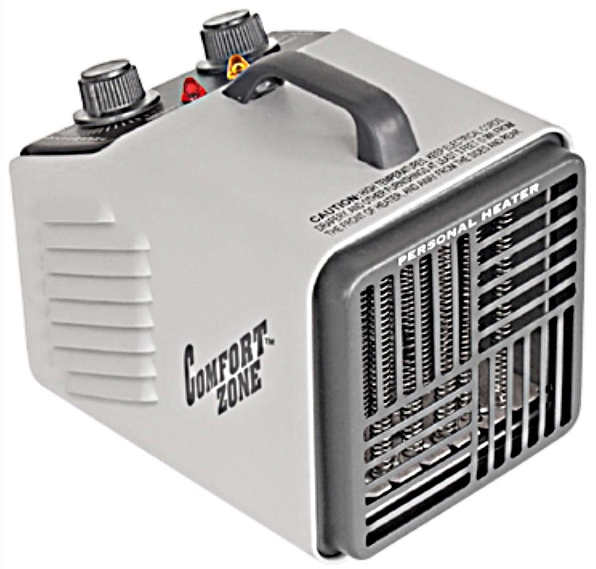 Comfort Zone 1500W Portable Electric Space Heater ...