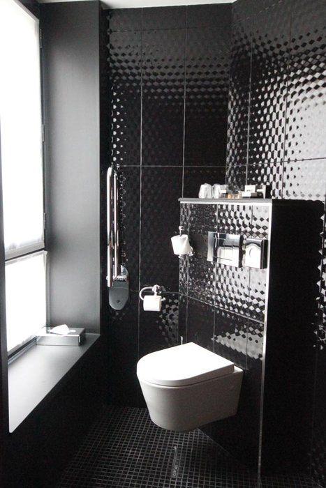 deco wc noir - Recherche Google   Inspiration déco WC   Pinterest