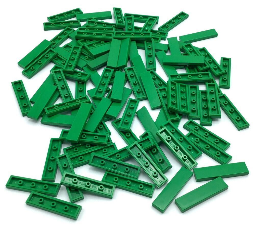 New LEGO Lot of 12 Translucent Green 1x1 Plate Pieces