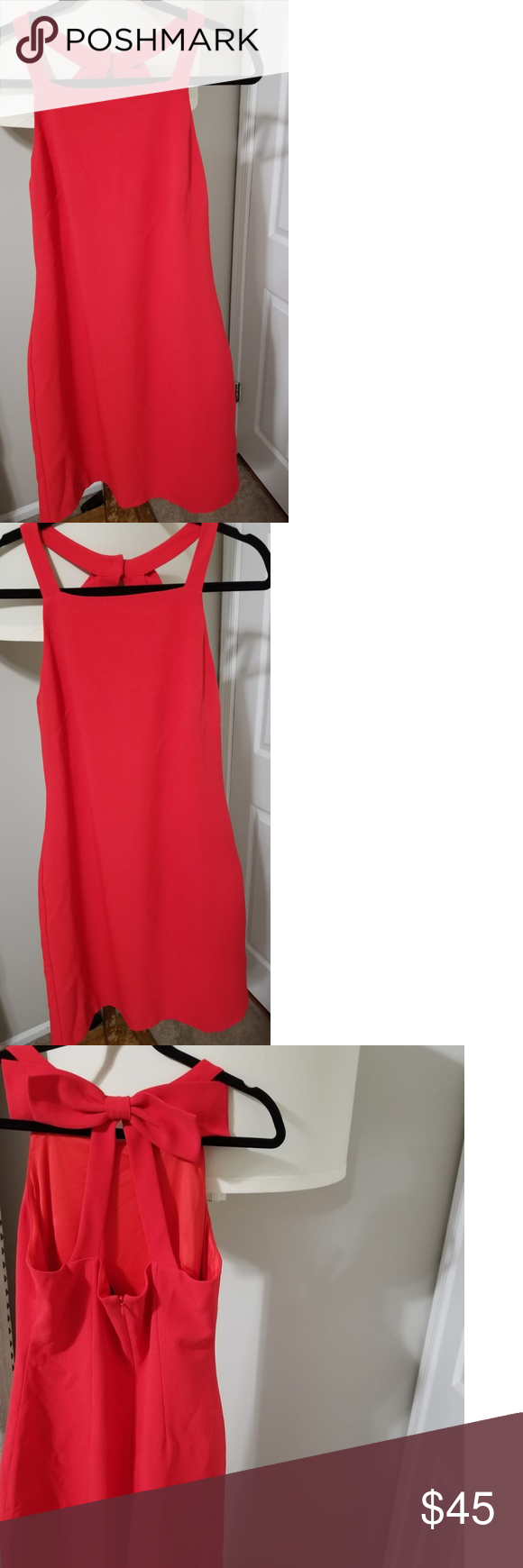 Vince Camuto Red Dress Price Reduced Today Only Red Dress Elegant Red Dress Clothes Design [ 1740 x 580 Pixel ]