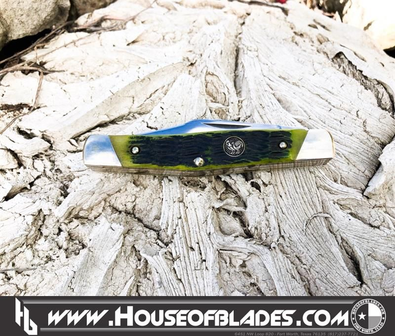 Hen And Rooster HR-343-AGB Green Bone Stockman Specifications Blade