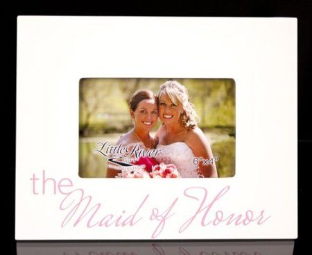 Little River Gift The Maid of Honor Picture Frame, 10 by 8-Inch, Holds 6 by 4-Inch Photo: Wedding Gift