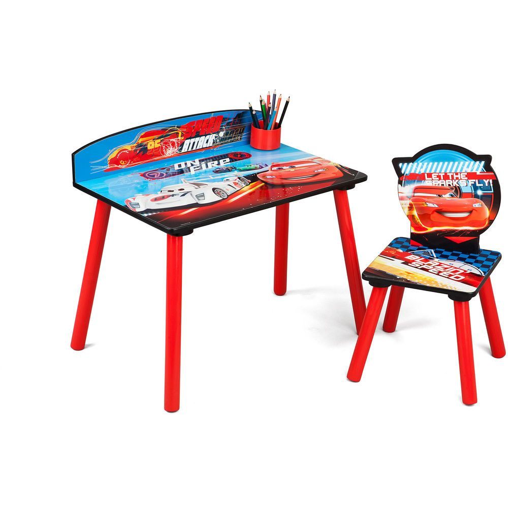 Magnificent Disney Cars Desk And Chair Set Lightning Mcqueen Kids Creativecarmelina Interior Chair Design Creativecarmelinacom
