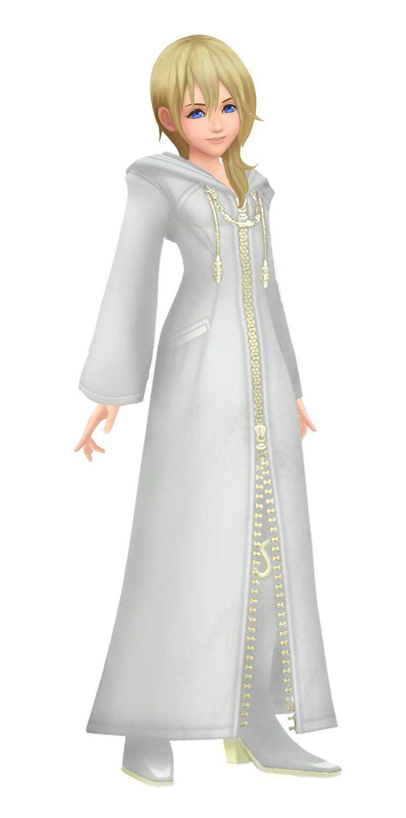 Kh Namine Organization Xiii White Anad Gold Kingdom Hearts Art Clothes Design Women