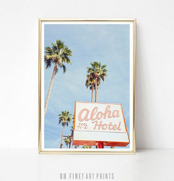 Palm Springs Print, Wall Art, Prints, Aloha Hotel Sign, Mid Century, Retro Decor, Mid Century Modern Decor,Printable Art Poster,Retro Office is part of Retro decor Signs - 2gKzWb9 Due to differences in how monitors and printers are calibrated, colors may vary  Print quality will depend on the type of printer and paper used  For the best results, especially for color prints, you can take your digital file to a printer for professional printing or use an online printing service   Successful printing requires only a minimum knowledge of managing digital files  Useful guidelines are given in the instruction sheet  ++++++++  TERMS OF USE ++++++++ All artwork purchased from Oh Fine! Art Prints is for personal use only  You may print the artwork for display in your home or office, or to give as a gift  Commercial use is not allowed  You are not permitted to share, redistribute, or resell the digital files or physical artwork
