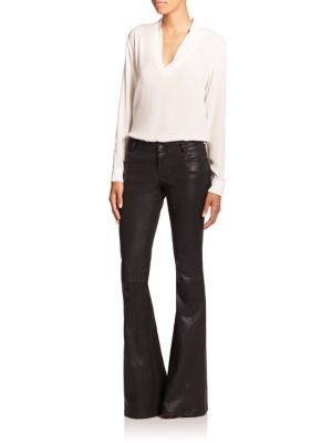 Polo Ralph Lauren - Leather Skinny Pants - Saks.com