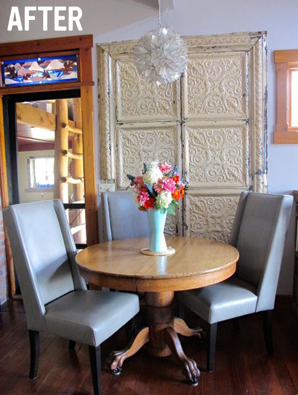 Small Dining Room Renovation New Furniture West Elm Willoughby Leather Chair
