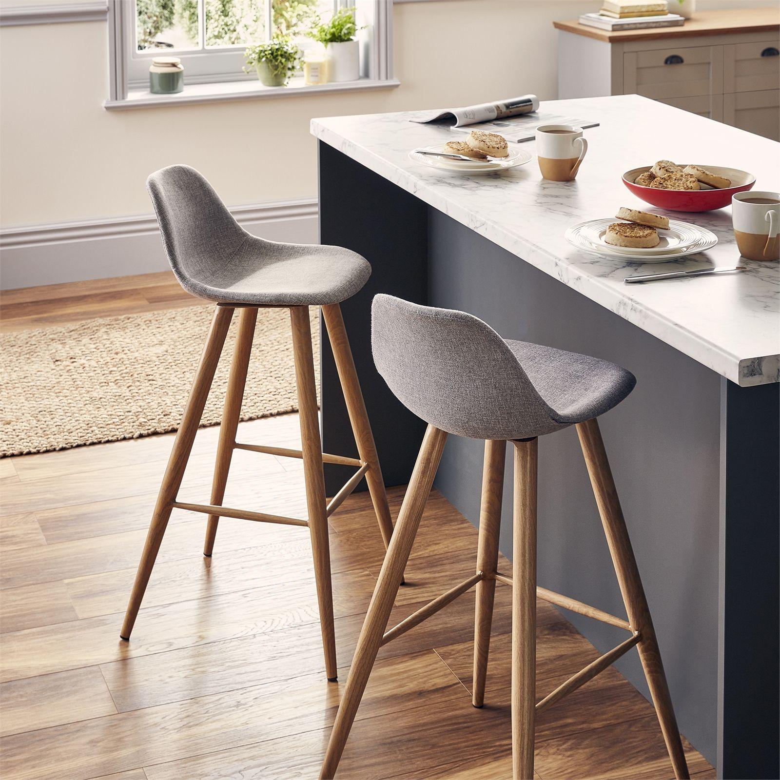 Homebase UK   Oak bar stools, Bar chairs, Homebase kitchens