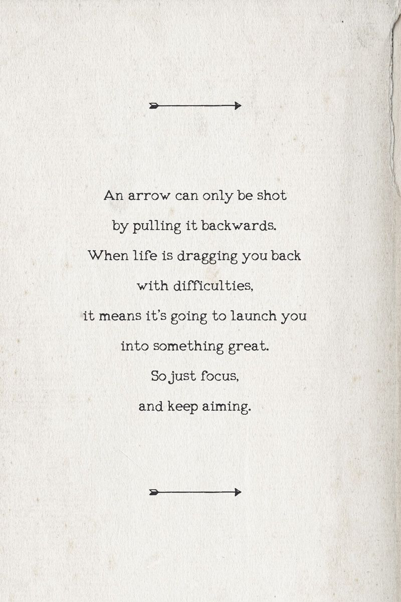 Arrow Quotes I'm Aiming Forwardi'm Aiming For The Things Ahead That Are Far .