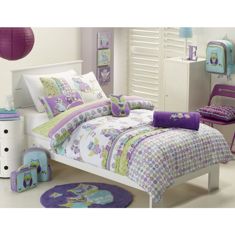 JIGGLE & GIGGLE - Hooty Owl Quilt Cover Set (single ... : owl double bed quilt cover - Adamdwight.com