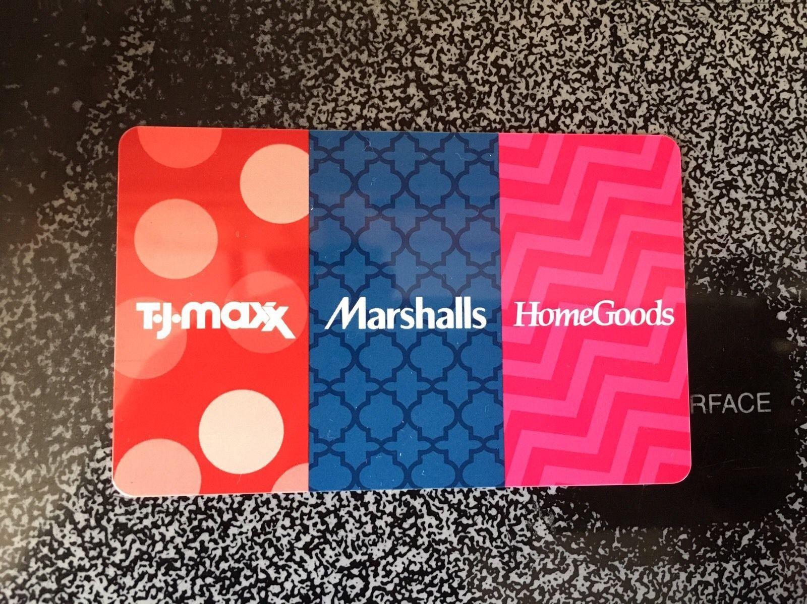 TJ Maxx Marshalls Home Goods Gift Card  450 55   302181869135    Gift Cards    Coupons   Gift Cards for  385 00. TJ Maxx Marshalls Home Goods Gift Card  450 55   302181869135