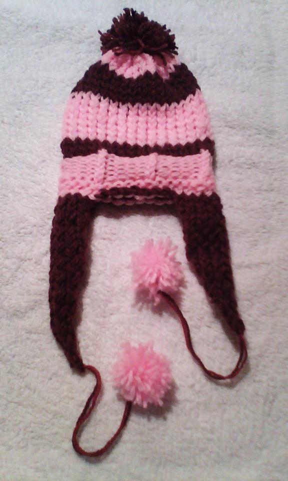 Gorro con orejeras tejido en telar por Carmen Cecilia | Ear Flap Hat ...