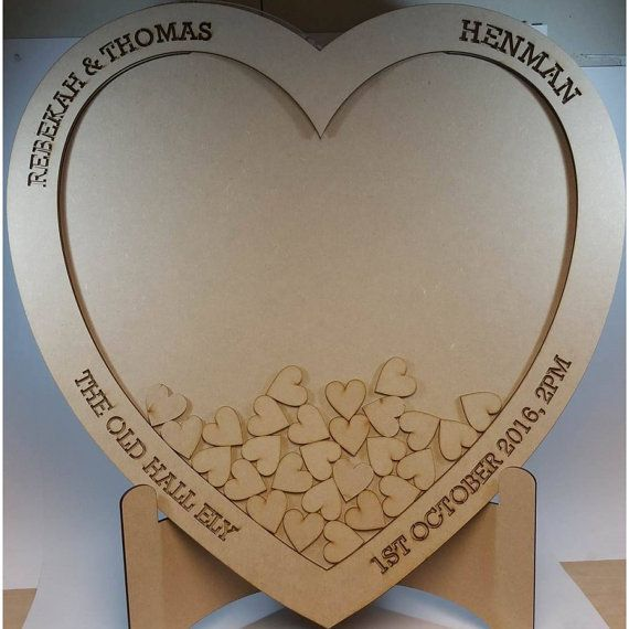 Wedding Drop Box Guest Book, A large unique wooden heart shaped ...
