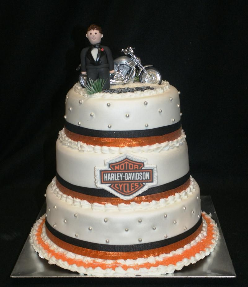 Harley Wedding Cake Topper Pictures Wedding Cakes Toppers1